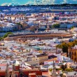 City View Bull Ring from Giralda Tower Seville Cathedral Spain — Stock Photo