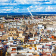 City View Bridge Churches from Giralda Tower Seville Cathedral S — Stock Photo