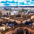City View Tower from Giralda Tower Seville Cathedral Spain — Stock Photo