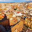 City View and Plaza Churches from Giralda Tower Shadow Seville C — Stock Photo