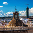 City View from Giralda Tower Dome Seville Cathedral Spain — Stock Photo