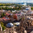 City View and Plaza Alcazar from Giralda Tower Seville Cathedral — Stock Photo
