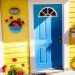 Floating Home Village Yellow Blue Door Houseboat Fisherman's Wha — Stock Photo #31490595