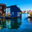 Floating Home Village Water Taxi Blue Houseboats Fisherman's Wha — Stock Photo