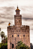 Torre del Oro Old Moorish Watchtower Seville Andalusia Spain — Stock Photo