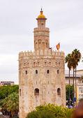 トッレ ・ デル ・ オロ古いムーア望楼セビリアのアンダルシアのスペイン — ストック写真