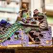 Porcelain Roof Chinese Figurines, Flutist,  Man Mo Temple  Hong  — Stock Photo