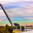 Alamillo Bridge Puente de Alamillo Cityscape River Guadalquivr M — Stock Photo