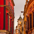 Narrow Streets of Seville Spain City View — Stock Photo