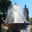 Stock Photo: Fountain Queen Statiue Provincial Capital Legislative Buildiing