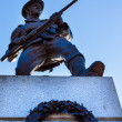 Stock Photo: CanadiSoldier Statue Provincial Capital Legislative Buildiin