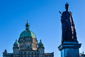 Provincial Capital Legislative Buildiing Queen Statue Victoria B — Stock Photo