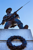 Canadian Soldier Statue Provincial Capital Legislative Buildiin — Stock Photo