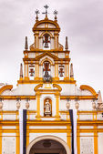 Basilica de la Macarena Bell Tower Bronze Bells Catholic Church — Stock Photo