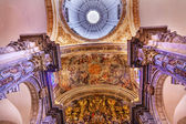 Basilica Dome Painting Altar Piece Church of El Salvador Seville — Foto Stock