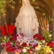 Stock Photo: Virgin Mary Statue Flowers Garden Mission SBuenaventurVentu