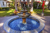 Mexican Tile Fountain Garden Mission San Buenaventura Ventura Ca — Stock Photo