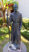 Father Junipero Serra Statue Mission San Buenaventura Ventura Ca — Stock Photo