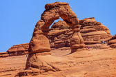 Delicate Arch Rock Canyon Arches National Park Moab Utah — Stock Photo