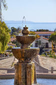 Fountain Pacific Ocean Mission Santa Barbara California — Foto Stock