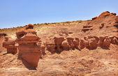 Mushroon Shaped Hoodoos Goblin Valley State Park Rock Canyon Uta — Stock Photo