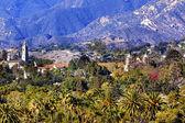 特派团圣巴巴拉山棕榈树加州 — 图库照片