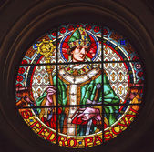 Saint Pedro Pacal Stained Glass Basilica Cathedral Andalusia Gra — 图库照片