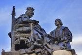 1492 Isabella with Colombus Statue Built 1892 Andalusia Granada  — Foto Stock