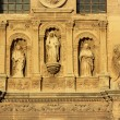 Statues Angels Facade Church Iglesia of Santa Anna Rio Darro Gra — Stock Photo #45035471