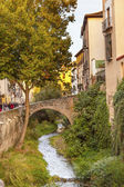 Old Bridge Walking Street River Rio Darro Albaicin Granada Andal — ストック写真
