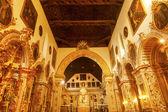 Ornate Golden Basilica Paintings Church Iglesia of Santa Anna Ri — Stock Photo