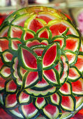 Green Red Watermelon Flower Granada Andalusia Spain — Stock Photo