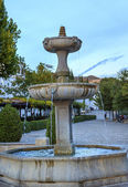 Fountain Walking Street Albaicin Granada Andalusia Spain — Stock Photo