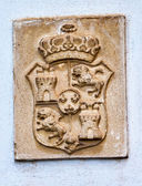 Alhambra Palace Royal Crest Granada Andalusia Spain — Stock Photo