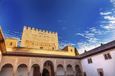 Alhambra Myrtle Courtyard Moorish Wall Designs Granada Andalusia — Stock Photo