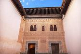 Alhambra Mexuar Courtyard Moorish Wall Designs Granada Andalusia — Stock Photo