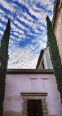 Alhambra mağribi avlu sabah sky granada endülüs i̇spanya — Stok fotoğraf