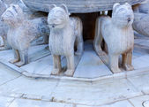 Alhambra Moorish Courtyard Lions Fountain Statue Granada Andalus — Stock Photo