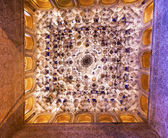 Square Shaped Domed Ceiling Sala de los Reyes Alhambra Moorish W — Stock Photo