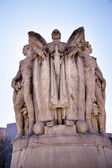 Winged War God George Gordon Meade Memorial Civil War Statue Pennsylva — Stock Photo