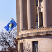 US Federal Trade Commission FTC Flag Washington DC — Stock Photo