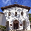 Постер, плакат: Mission San Luis Obispo de Tolosa Facade Bells Cross California