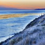 Eilwood Mesa Sand Dune Lovers Pacific Ocean Sunset Goleta Califo — Stock Photo #48356953