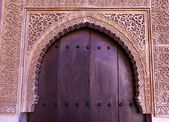 Alhambra Courtyard Moorish Wall Designs Door Granada Andalusia S — Stock Photo