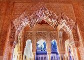 Alhambra Moorish Courtyard Lions Pillars Granada Andalusia Spain — Stock Photo