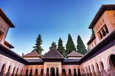 Alhambra Moorish Courtyard Lions Granada Andalusia Spain — Stock Photo