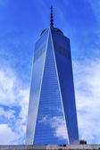 New World Trade Center Glass Building Skyscraper Reflection New — Stock Photo