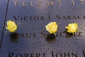911 Memorial Jesus Names White Roses New York NY — Stock Photo
