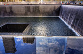 911 Memorial Pool Fountain Waterfall New York NY — Stock Photo
