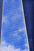 New World Trade Center Abstact Glass Building Skyscraper Reflect — Stock Photo